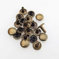 Double Cap - 9mm - Antique Brass